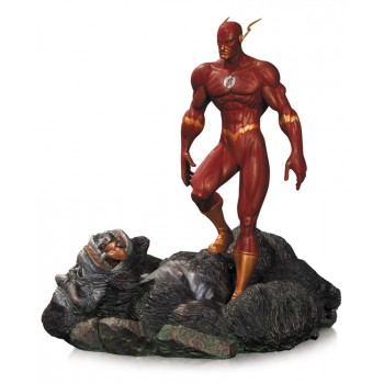 DC Comics Patina Statue The Flash vs. Gorilla Grodd 17 cm